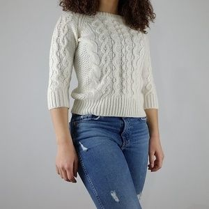 J. Crew Cable-Knit Sweater